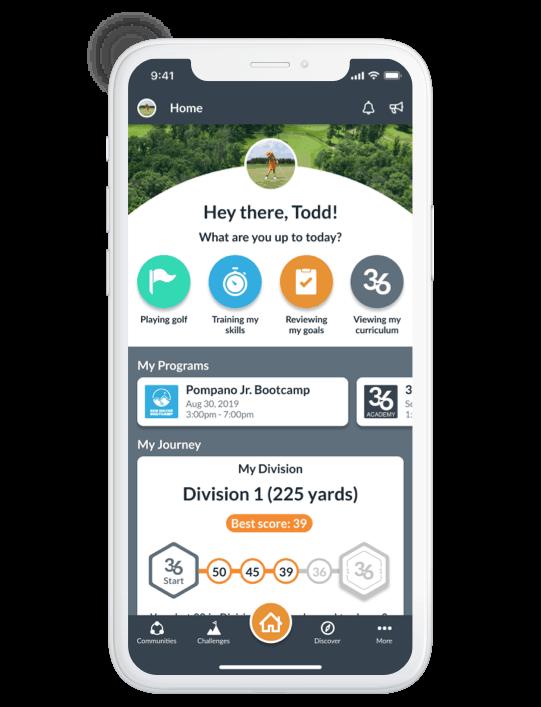 Op 36 Mobile App Student Home Screen
