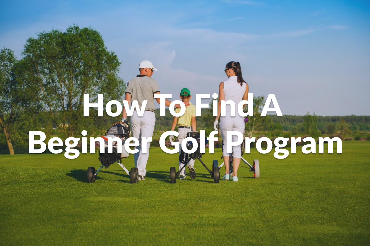 How to find a beginner golf program article image