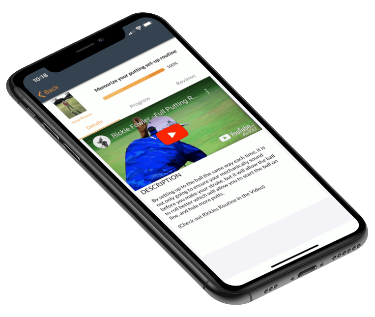 Private lesson goal in the Op 36 Mobile App
