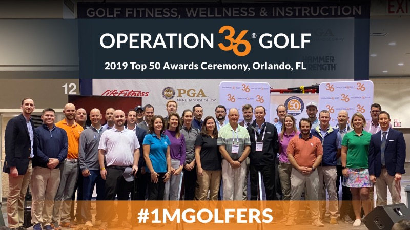 Op 36 Top 50 Coaches at PGA Show Ceremony