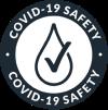 Covid 19 Safety Badge Dark Navy