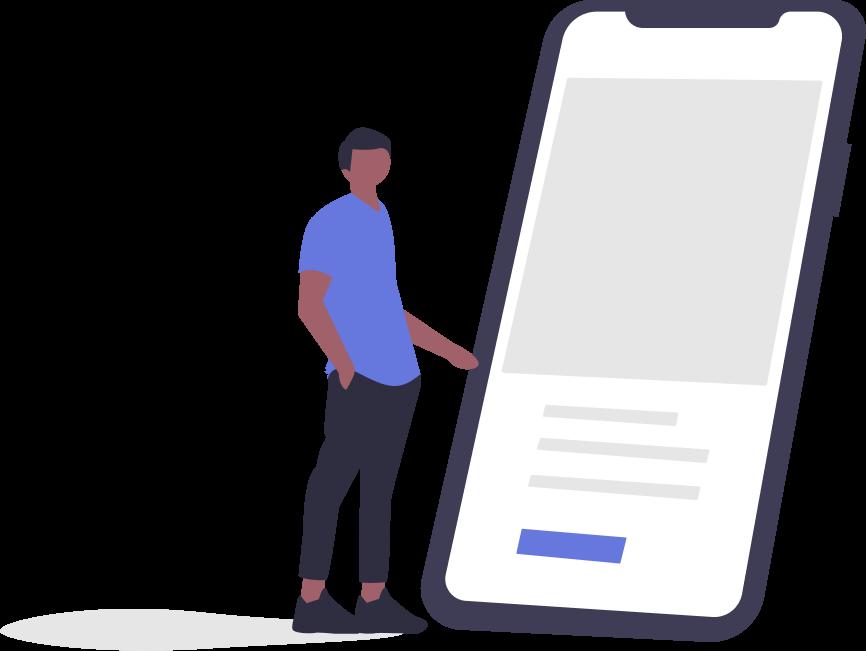 Mobile app graphic