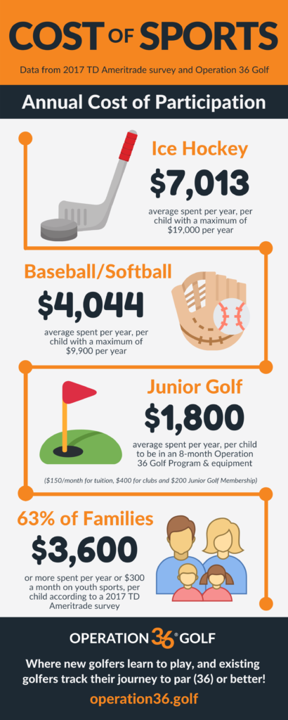 Cost of Sports info graphic