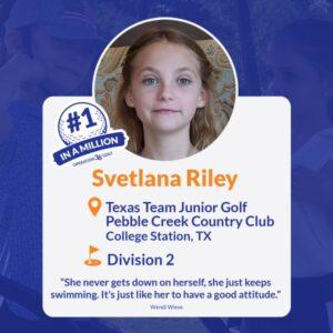 Svetlana Riley #1inaMillion Golfer Instagram post