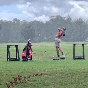 #1inaMillion Golfer Hagan Smith hitting golf balls on the driving range