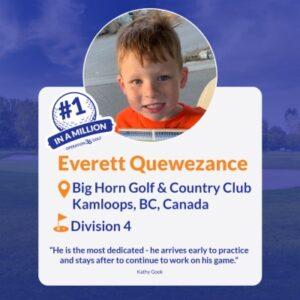#1inaMillion Golfer Everette Quewezance Instagram Post