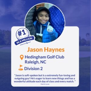 #1inaMillion Golfer Jason Haynes Instagram post