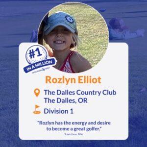 #1inaMillion Golfer Rozlyn Elliott Instagram Post
