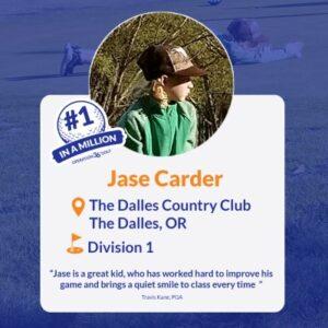 Jase Carder #1inaMillion Golfer Instagram Post