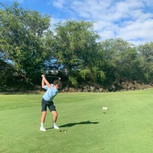 #1inaMillion Golfer Joshua Beck teeing off