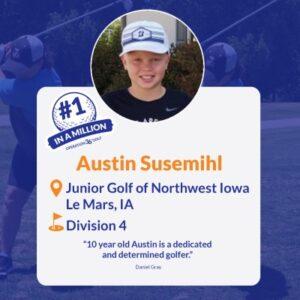 #1inaMillion Golfer Austin Susemihl instagram post