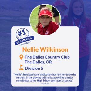 #1inaMillion Golfer Nellie Wilkerson social media post