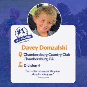 #1inaMillion Davey Domzalski social media post