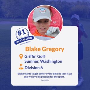 #1inaMillion Golfer Blake Gregory instagram post